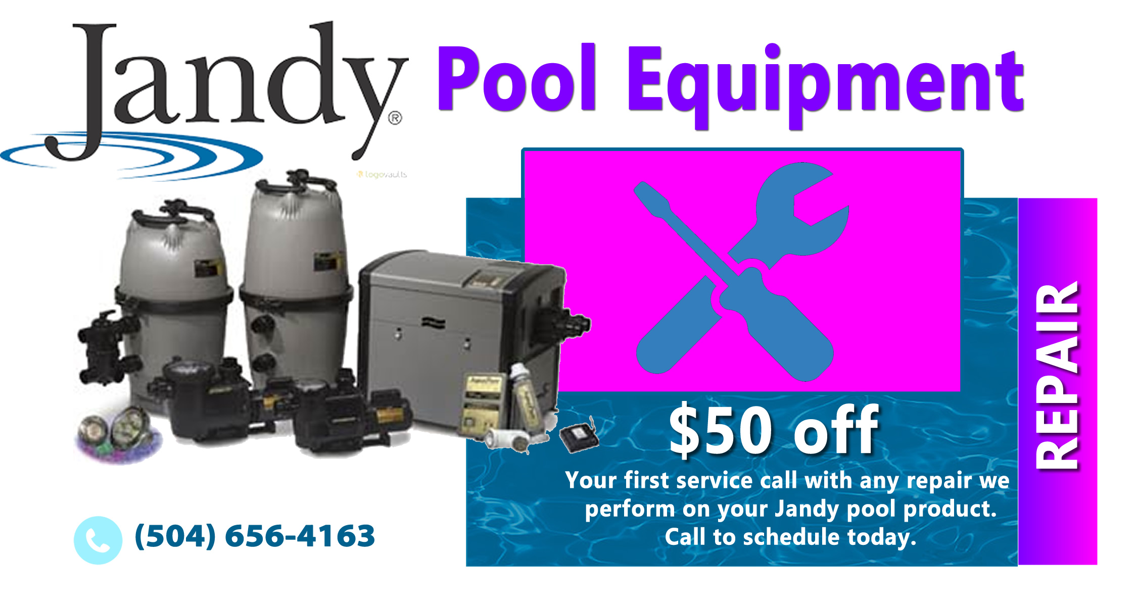 Not Only Do We And Install Brand New Jandy Products But Our Technicians Are Ready To Diagnose Repair Any Piece Of Pool Equipment You Own